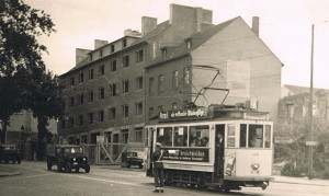 3. Tram 27 in 1948 Schanz Ami-Soldat