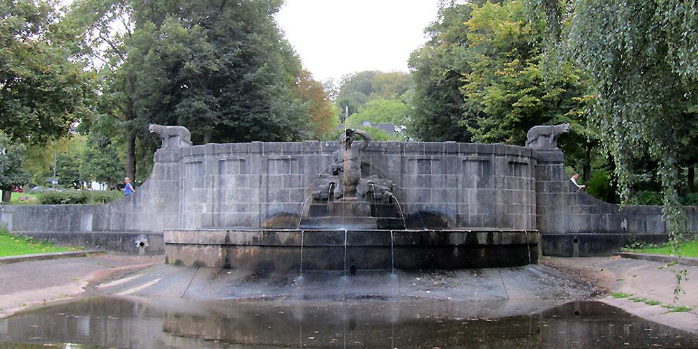 Der Tritonenbrunnen im Südviertel